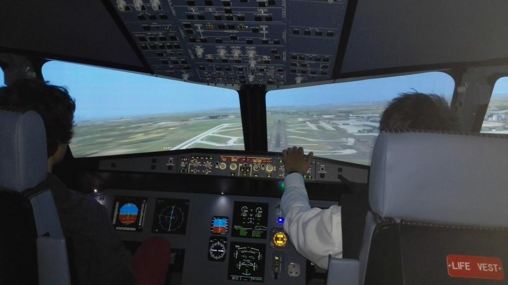 Simulateur d'Airbus A320 situé à Marne la Vallée